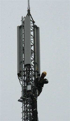 Une antenne-relais, le 28 novembre 2008 à Paris