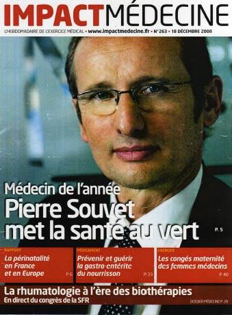 Pierre Souvet : président de l'ASEF élu médecin de l'année par la revue Impact médecine - Décembre 2008
