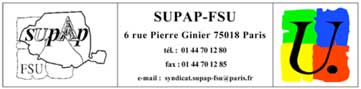 ONDES ET SANTE : PARIS A PEUR ! - Communiqué Supap-FSU - 19/10/2009