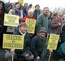 Antenne relais : rassemblement réussi à Loctudy - 30/11/2009