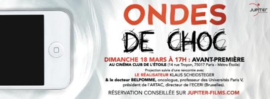 FILM : ONDES DE CHOC - Dimanche 18 Mars 2018 à 17h en AVANT-PREMIERE
