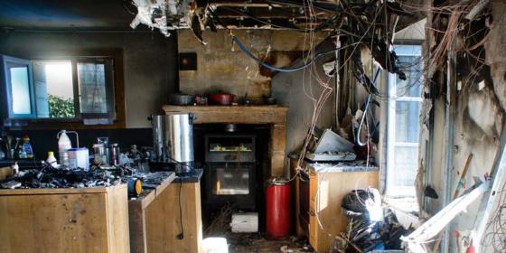 La cuisine et la chambre à l'étage ont été ravagées. ©Gilbert Habatjou