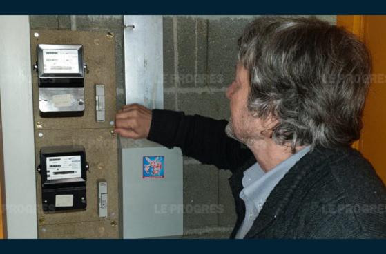 """Ces compteurs actuels sont appelés à être remplacés par les """"Linky"""". Photo Le Progrès/Georges MAIRE"""