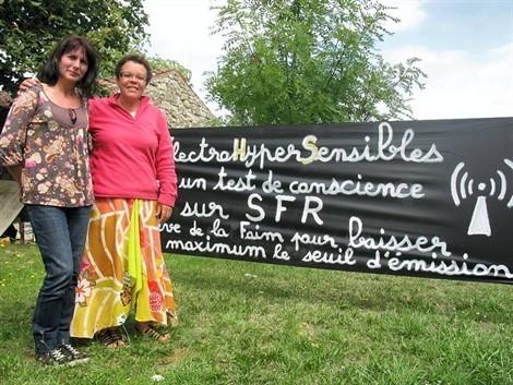 Brigitte et Anne ont commencé leur grève de la faim mardi. Elles sont déterminées à aller jusqu'au bout.