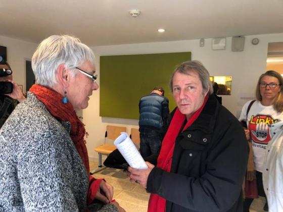 Le tribunal administratif de Rennes examinait ce jeudi 4 avril l'arrêté pris par le maire de Bovel au sujet des compteurs électriques Linky. | OUEST-FRANCE