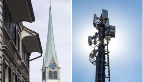 Plus élevés que les bâtisses alentour et au centre des villages, les clochers sont des emplacements idéaux. (Photo: Keystone)