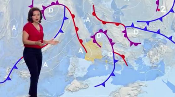 Le bulletin météo diffusé le lundi 29 avril 2019 sur France 2.  France 2 / francetvinfo.fr (capture d'écran)