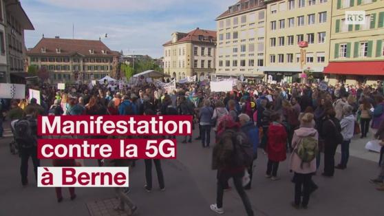 Des centaines de personnes manifestent contre la 5G à Berne L'actu en vidéo / 1 min. / vendredi à 20:58