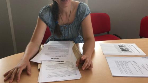 Maud Bigand, porte-parole du collectif «Touche pas à mon compteur 09»./ Photo Sa. BA.