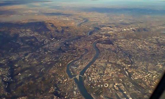 Lyon vue du ciel © P Laplace