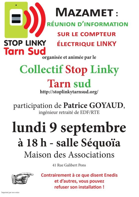 LINKY - MAZAMET : Réunion d'information Lundi 9 septembre 2019 à 18h00