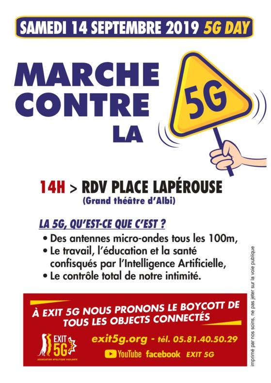 5G : MARCHE CONTRE LA 5G à ALBI Samedi 14 septembre