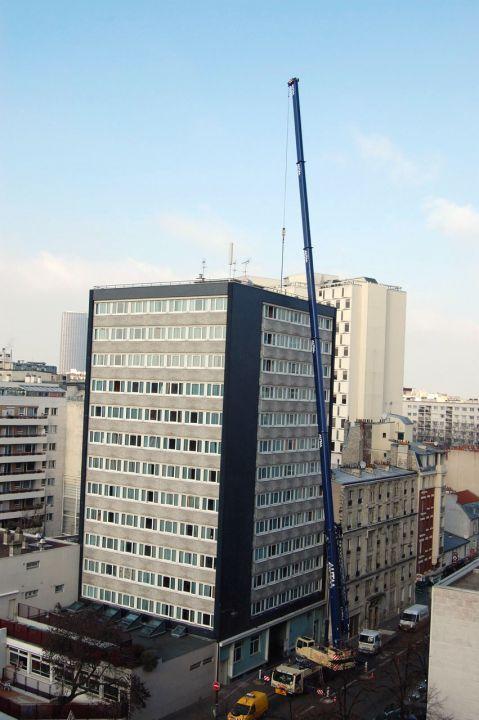 """""""Le XIVe teste trois antennes moins puissantes"""" - Le Parisien - 01/02/2012"""
