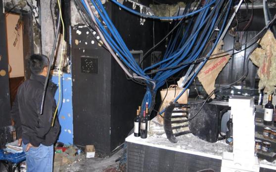 Ce mardi, rue Henry-Monnier (IXe). L'incendie qui a ravagé le restaurant est parti du compteur électrique. LP/B.H.