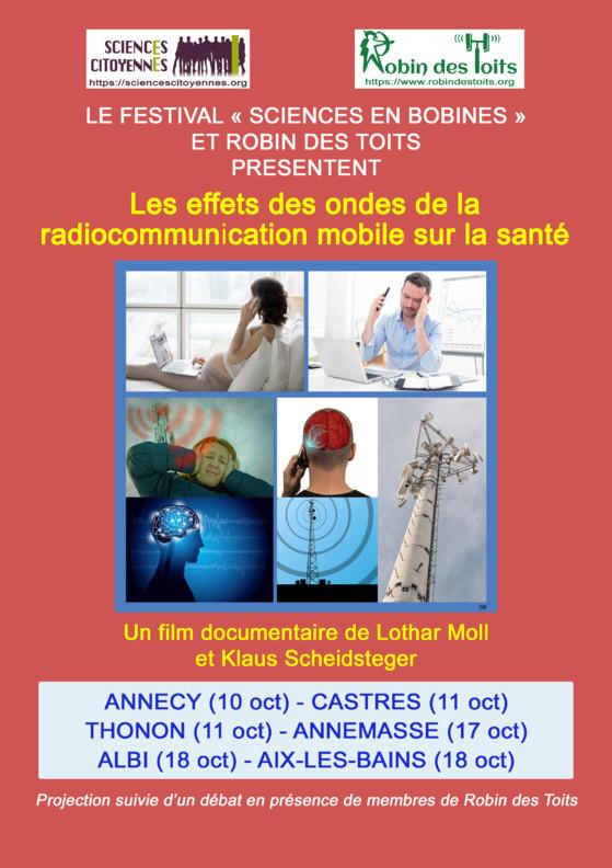 """17/10/2019 à ANNEMASSE : projection-débat - Le festival """"Sciences en Bobines"""" et Robin des Toits présentent..."""