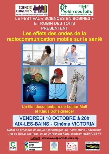 """18/10/2019 à AIX-LES-BAINS : projection-débat - Le festival """"Sciences en Bobines"""" et Robin des Toits présentent..."""