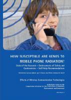 ETUDE : 'Comment réagissent les gènes au rayonnement de la téléphonie mobile ?' - 2009