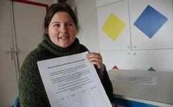 Lundi et hier, Alexandra Nivesse a déposé la pétition dans toutes les écoles privées de Tourcoing.