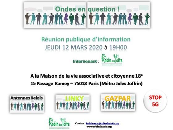 ROBIN DES TOITS - REUNION PUBLIQUE D'INFORMATION - JEUDI 12 MARS A 19H00