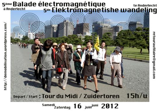 VIDEO : Balade électromagnétique à Anderlecht (Bruxelles) - RTBF - 16/06/2012