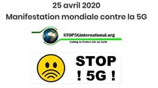 Journée internationale contre la 5G du 25 avril 2020