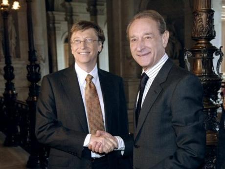 Bill Gates, patron de Microsoft avec Bertrand Delanoë