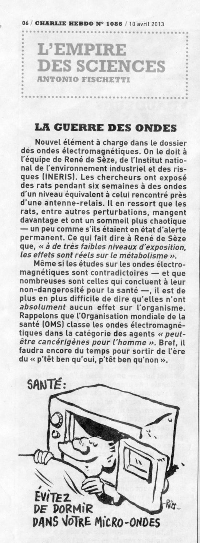 """""""La guerre des ondes"""" - Charlie Hebdo - 10/04/2013"""