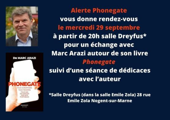 SOIREE D'ECHANGES AVEC LE Dr MARC ARAZI - Alerte Phonegate (29/09/21)