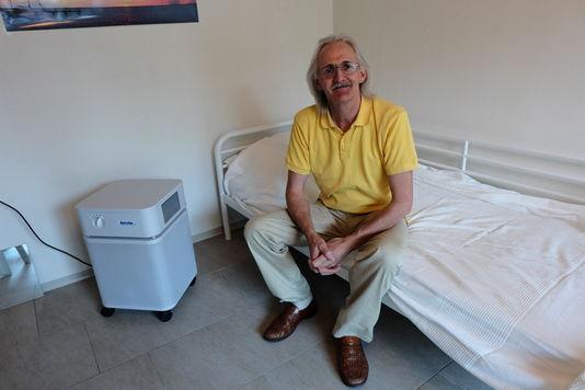 Christian Shifferle, président de la coopérative à l'origine de la conception de l'immeuble de Zurich. | Solène Cordier/Lemonde.fr