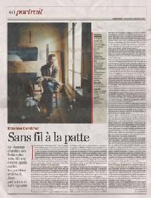 Portrait d'Etienne Cendrier, porte-parole de Robin des Toits : 'Sans fil à la patte', Libération du 06/02/2008