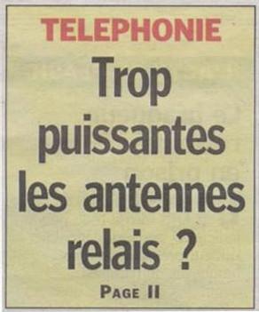 Téléphone portable : La puissance des antennes revient dans le débat - Le Parisien 21/05/2008