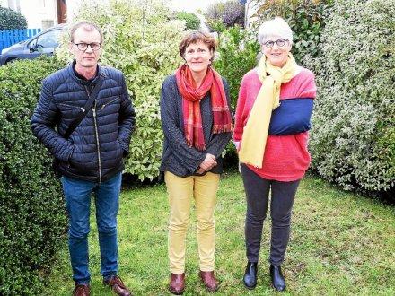 De gauche à droite, les élus d'opposition : Hugues Stéphan, Joëlle Kersual et Elisabeth Huet. Absent sur la photo : Roland Jaouen.