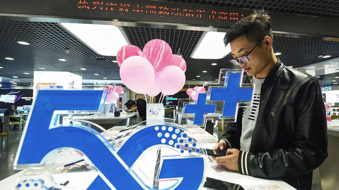 La Chine est le plus grand marché mobile du monde, avec environ, 1,6 milliards d'abonnements. STR/AFP