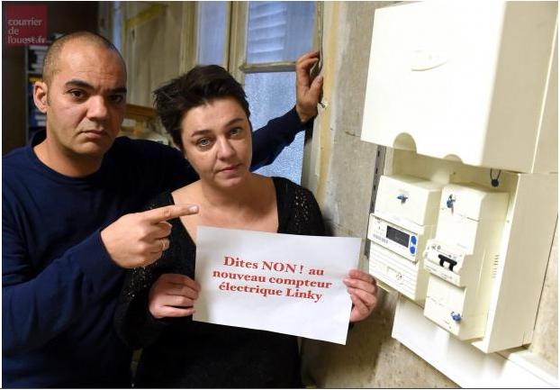 'Linky : le pouvoir de dire non' - Le Courrier de l'Ouest - 15/01/2016