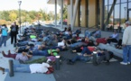 Compteur linky : les opposants font une pause au siège d'Enedis à Albi - 23/10/2017