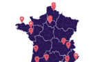 Carte des expérimentations 5G en France. Source Arcep 21 dec 2018