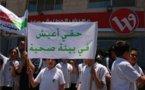 """""""BETHLEHEM : des écoliers protestent contre les antennes près de leur école """" (English version inside) - Ma'an News Agency - 08/06/2012"""