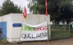 Une trentaine de salariés de l'entreprise Solutions 30 ont manifesté devant le siège d'Enedis, à Saint-Brieuc, ce mardi. | OUEST-FRANCE